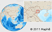 Shaded Relief Location Map of Ung Hoa