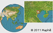 Satellite Location Map of Nam Thanh, highlighted parent region