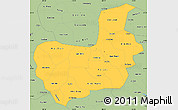 Savanna Style Simple Map of Hai Hung