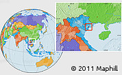 Political Location Map of An Hai