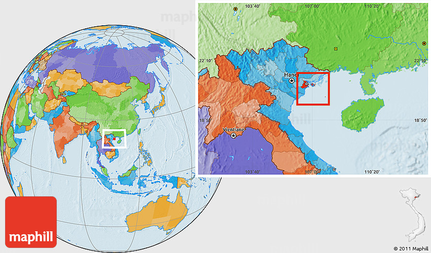 Haiphong Vietnam Map.Political Location Map Of Hai Phong
