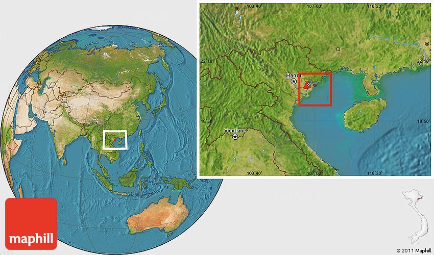 Satellite Location Map Of Hai Phong