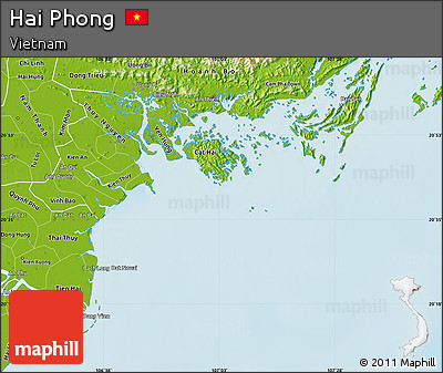 Physical Map Of Hai Phong