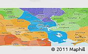 Political Shades Panoramic Map of Ho Chi Minh City