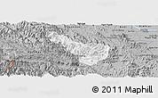 Gray Panoramic Map of Da Bac