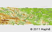 Physical Panoramic Map of Da Bac