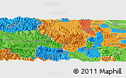 Political Panoramic Map of Da Bac