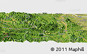 Satellite Panoramic Map of Da Bac