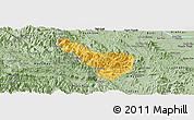 Savanna Style Panoramic Map of Da Bac