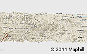 Shaded Relief Panoramic Map of Da Bac