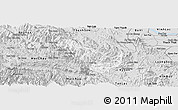 Silver Style Panoramic Map of Da Bac