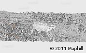 Gray Panoramic Map of Mai Chau