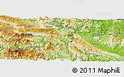 Physical Panoramic Map of Mai Chau