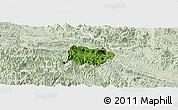 Satellite Panoramic Map of Mai Chau, lighten