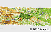 Satellite Panoramic Map of Mai Chau, physical outside
