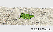Satellite Panoramic Map of Mai Chau, shaded relief outside