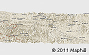 Shaded Relief Panoramic Map of Mai Chau