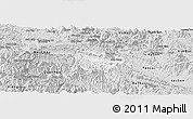 Silver Style Panoramic Map of Mai Chau