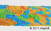 Political Panoramic Map of Hoa Binh