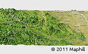 Satellite Panoramic Map of Hoa Binh