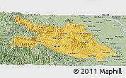 Savanna Style Panoramic Map of Hoa Binh
