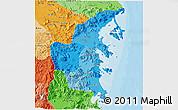 Political Shades 3D Map of Khanh Hoa