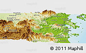 Physical Panoramic Map of Khanh Vinh