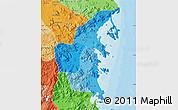 Political Shades Map of Khanh Hoa