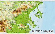 Physical 3D Map of Ninh Hoa