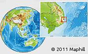 Physical Location Map of Ninh Hoa, highlighted parent region