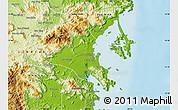 Physical Map of Ninh Hoa