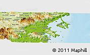 Physical Panoramic Map of Ninh Hoa