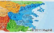 Political Shades Panoramic Map of Khanh Hoa