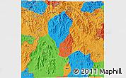 Political 3D Map of Kon Tum