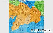 Political Shades 3D Map of Kon Tum