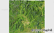 Satellite 3D Map of Kon Tum