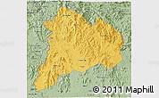 Savanna Style 3D Map of Kon Tum