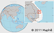 Gray Location Map of Dac Glay, highlighted country
