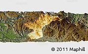 Physical Panoramic Map of Dac Glay, darken