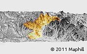 Physical Panoramic Map of Dac Glay, desaturated