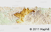 Physical Panoramic Map of Dac Glay, lighten