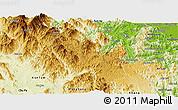 Physical Panoramic Map of Konplong
