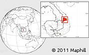 Blank Location Map of Kon Tum