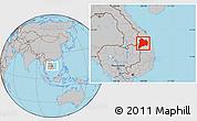 Gray Location Map of Kon Tum