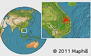 Satellite Location Map of Kon Tum