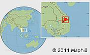 Savanna Style Location Map of Kon Tum