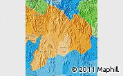 Political Shades Map of Kon Tum