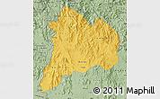 Savanna Style Map of Kon Tum
