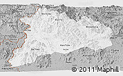 Gray Panoramic Map of Kon Tum
