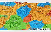 Political Panoramic Map of Kon Tum